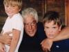 Con i figli Francesco e Michele
